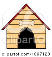 Clipart Dog House With A Bone Above The Door Royalty Free Vector Illustration