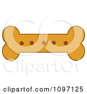 Clipart Baked Dog Bone Biscuit Royalty Free Vector Illustration by Hit Toon