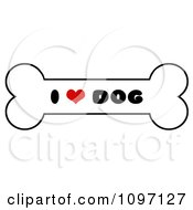Clipart Black Red And White I Heart Dog Bone Biscuit Royalty Free Vector Illustration