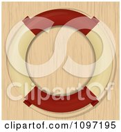 Clipart Nautical Life Buoy Over Wood Grain Royalty Free Vector Illustration