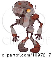 Clipart Creepy Zombie Robot Royalty Free Vector Illustration
