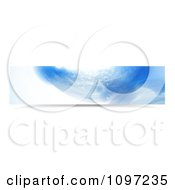Clipart Blue Water Splash Banner 1 Royalty Free Vector Illustration