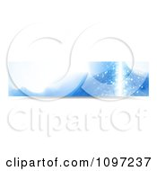 Clipart Blue Water Splash Banner 3 Royalty Free Vector Illustration