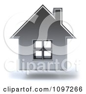 Clipart 3d Floating Silver House Royalty Free CGI Illustration by Julos