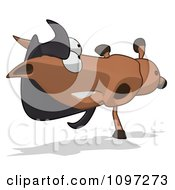 Clipart Charlie Horse Cartoon Doing A Cartwheel Royalty Free CGI Illustration by Julos