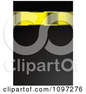 Clipart 3d Gold Banner Over A Carbon Fiber Texture Royalty Free Vector Illustration