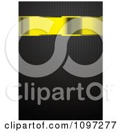 Clipart 3d Gold Banner Over A Carbon Fiber Pattern Royalty Free Vector Illustration