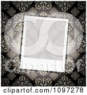 Clipart Blank Transparent Instant Photo Frame Over A Floral Pattern Royalty Free Vector Illustration by michaeltravers