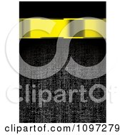 Clipart 3d Gold Banner Over A Dark Fabric Texture Royalty Free Vector Illustration