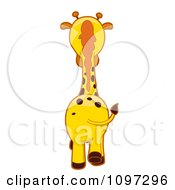 Clipart Giraffe Walking Away Royalty Free Vector Illustration