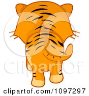 Clipart Tiger Walking Away Royalty Free Vector Illustration by BNP Design Studio