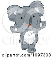 Clipart Cute Happy Koala With Open Arms Royalty Free Vector Illustration by BNP Design Studio