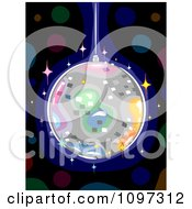 Clipart Colorful Disco Ball Sparkling In The Dark Royalty Free Vector Illustration