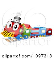 Colorful Happy Toy Train Character