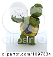Clipart 3d Tortoise Holding A Transparent Light Bulb Royalty Free CGI Illustration by KJ Pargeter