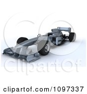 Clipart 3d Silver Formula One Race Car Royalty Free CGI Illustration by KJ Pargeter