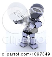 Clipart 3d Robot Holding A Transparent Light Bulb Royalty Free CGI Illustration by KJ Pargeter