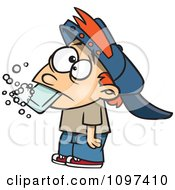 Clipart Bad Boy Getting His Dirty Mouth Washed Out With Soap After Cussing Royalty Free Vector Illustration by toonaday