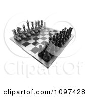 Clipart 3d Chess Board Set Up 1 Royalty Free CGI Illustration