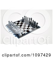 Clipart 3d Chess Board Set Up 2 Royalty Free CGI Illustration