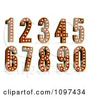 Clipart 3d Theatre Light Numbers Royalty Free CGI Illustration by stockillustrations