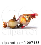 Clipart 3d Brown Chicken Relaxing Royalty Free CGI Illustration