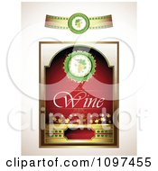 Clipart Vintage Red And Gold Wine Label With A Band Royalty Free Vector Illustration by merlinul