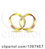 Clipart 3d Golden Wedding Bands Entwined Together Royalty Free Vector Illustration by merlinul #COLLC1097457-0175