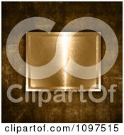 Clipart 3d Gold Plaque On Grungy Concrete Royalty Free CGI Illustration