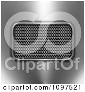 Clipart 3d Perforated Metal Vent On Chrome Royalty Free CGI Illustration