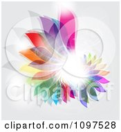 Clipart Abstract Decorative Floral Design With Faint Swirls And A Flare Royalty Free Vector Illustration