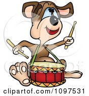 Happy Drummer Dog