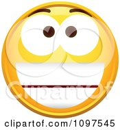 Clipart Pleased Yellow Emoticon Smiley Face Royalty Free Vector Illustration