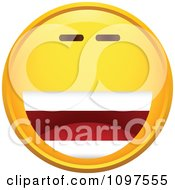 Clipart Laughing Yellow Cartoon Smiley Emoticon Face 1 Royalty Free Vector Illustration