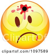 Clipart Shot Yellow Cartoon Smiley Emoticon Face 1 Royalty Free Vector Illustration