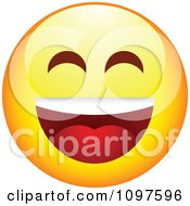 Clipart Laughing Yellow Emoticon Smiley Face Royalty Free Vector Illustration