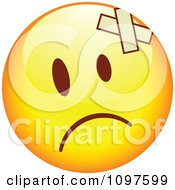 Clipart Hurt Yellow Emoticon Smiley Face Royalty Free Vector Illustration