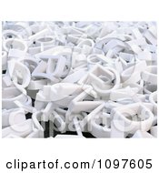 Clipart 3d White Letters Scattered In A Pile Royalty Free CGI Illustration by Mopic