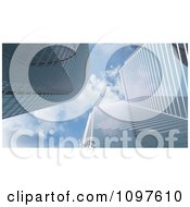 Clipart 3d Highrise City Buildings And Cloudy Blue Sky Royalty Free CGI Illustration by Mopic
