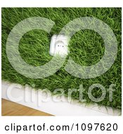 Clipart 3d Renewable Energy Electrical Socket In A Grassy Wall Royalty Free CGI Illustration