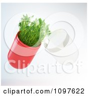 Clipart 3d Plant In A Pill Capsule Royalty Free CGI Illustration by Mopic