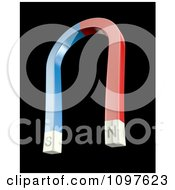 Clipart 3d Blue And Red Magnetic Horse Shoe Royalty Free CGI Illustration