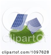 Clipart 3d Photovoltaic Solar Energy Panels On A Grassy Circle Royalty Free CGI Illustration