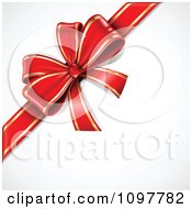 Clipart 3d Red And Gold Gift Bow Royalty Free Vector Illustration by TA Images