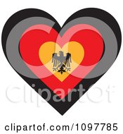 Patriotic Flag Heart With A German Design