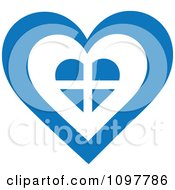 Patriotic Flag Heart With A Greek Design