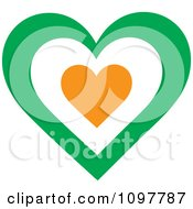 Clipart Patriotic Flag Heart With An Irish Design Royalty Free Vector Illustration