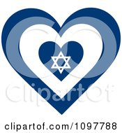 Patriotic Flag Heart With An Israel Design