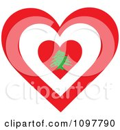 Patriotic Flag Heart With A Lebanon Design
