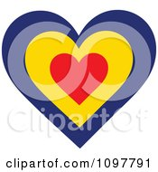 Patriotic Flag Heart With A Romanian Design
